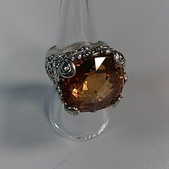 948d96f0e1a Unbranded Jewelry | Clearance Sterling Wlarge Topaz Color Stone Ring ...